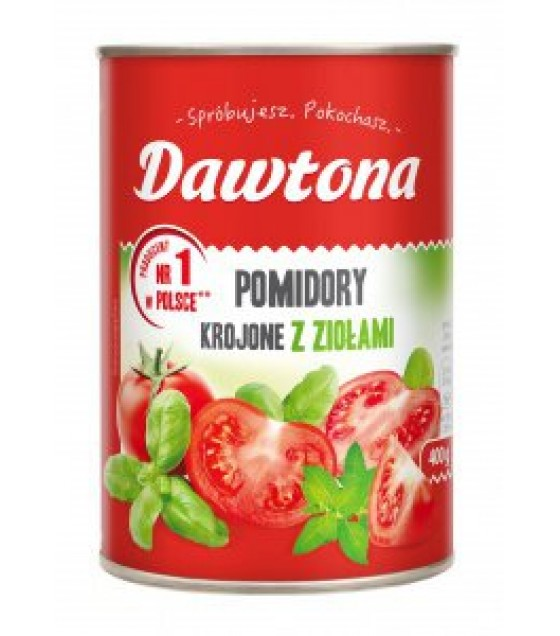 DAWTONA Diced Tomatoes with Herbs - 400g (exp. 20.02.2020)