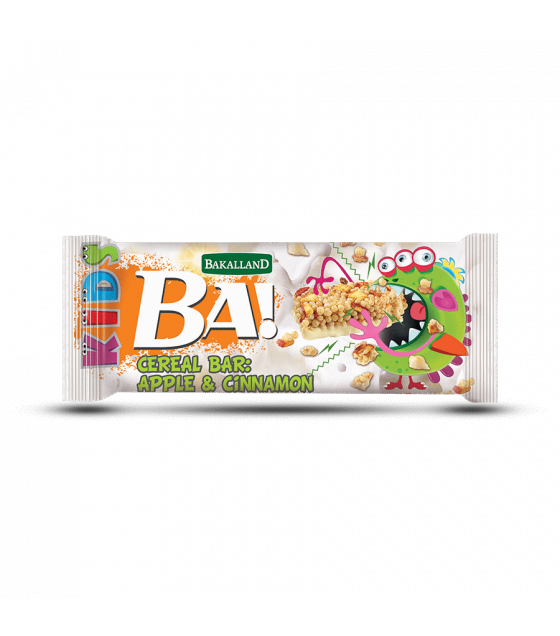 "BAKALLAND Cereal Bar ""BA!"" for Kids, Apple and Cinnamon - 25g (exp. 31.03.20)"