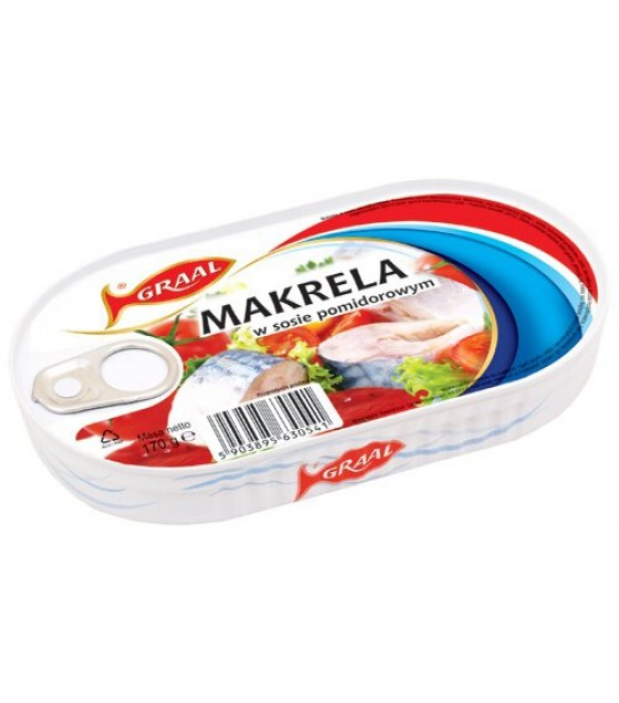 GRAAL Mackerel In Tomato Sauce - 170g (exp. 01.12.21)
