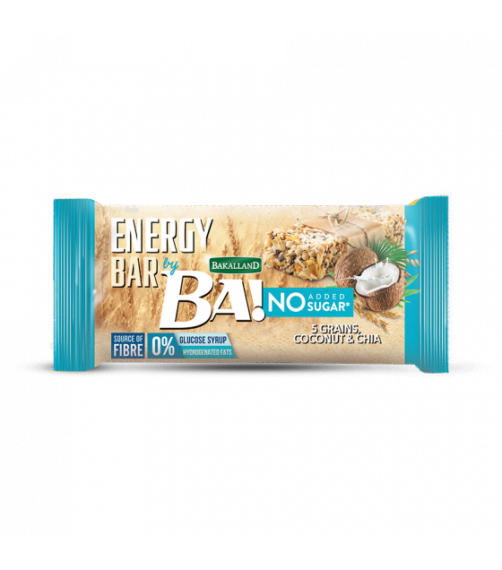 "BAKALLAND Energy Bar ""BA!"" Coconut and Chia, No Sugar - 30g (exp. 29.02.20)"