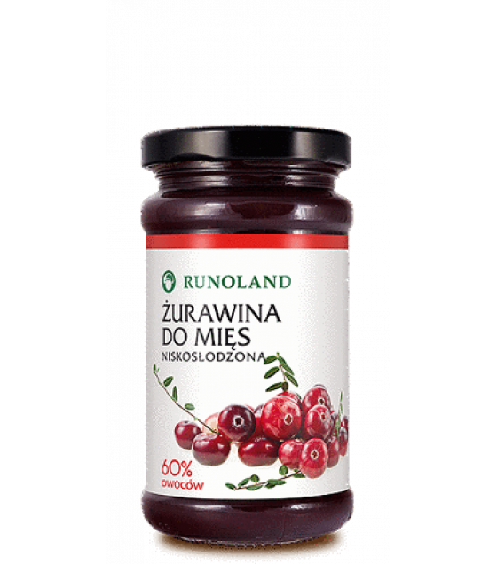 RUNOLAND Wild Cranberry Preserve low sugar - 220g (exp. 10.01.21)