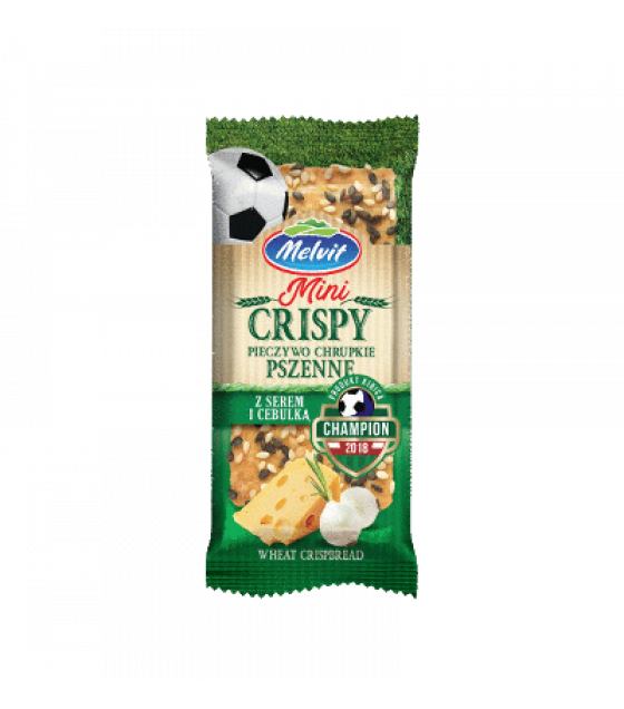 MELVIT Wholegrain Wheat Crispbread with Onions and Cheese - 30g (exp. 27.02.20)