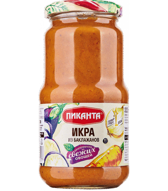 """Pikanta"" Eggplants Spread Paste - 520g (exp. 26.07.21)"