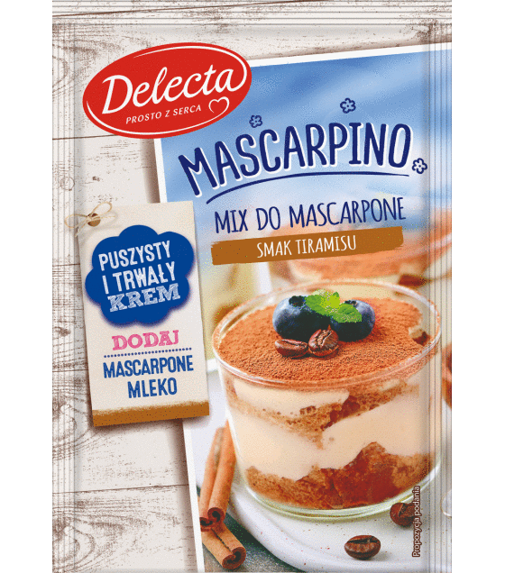 "Mix for the mascarpone taste of tiramisu ""Delecta"" - 50g (exp. 05.10.19)"