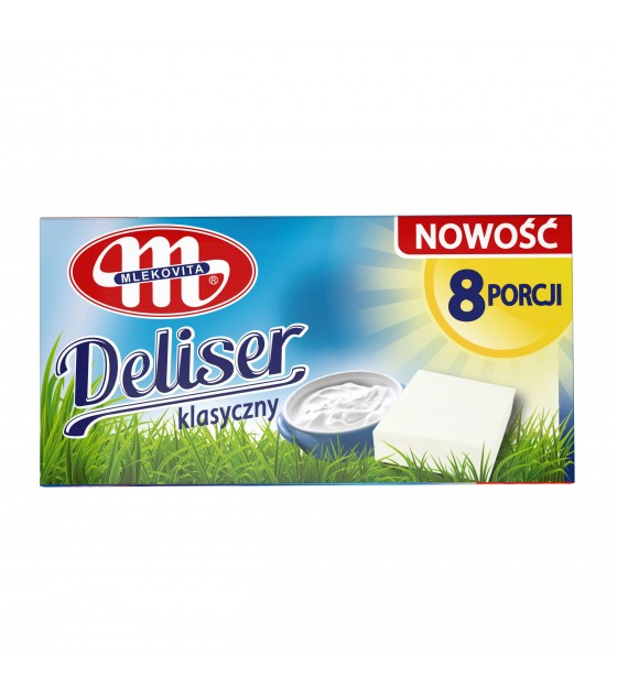 Mlekovita DELISER Classic processed curd cheese (17g x 8 pieces) - 136g (exp. 02.03.20)