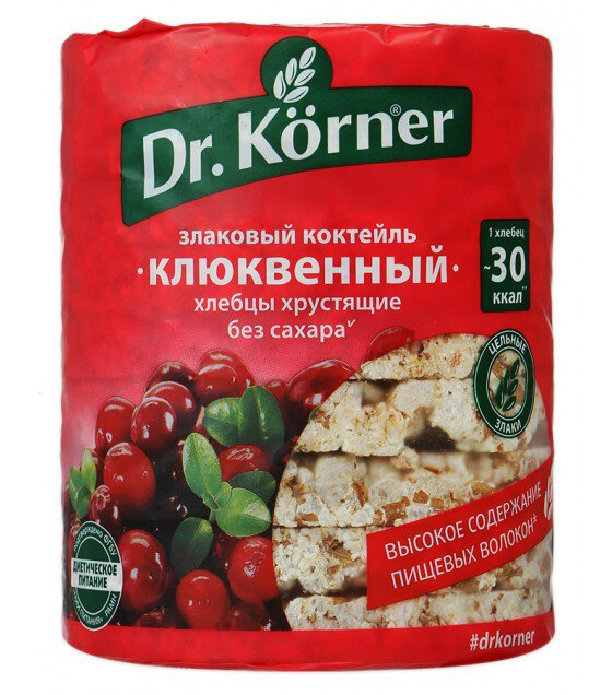 "Crispbread ""Dr. Korner"" Cranberry Cereal Cocktail - 100g (exp. 07.10.19)"