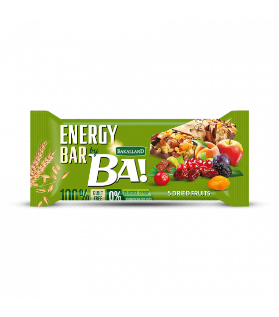 "BAKALLAND Energy Bar ""BA!"" 5 Dried Fruits - 40g (exp. 31.08.20)"