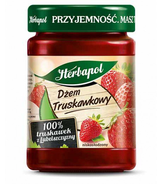 "Strawberry Jam ""Herbapol"" - 280g (exp. 17.01.20)"