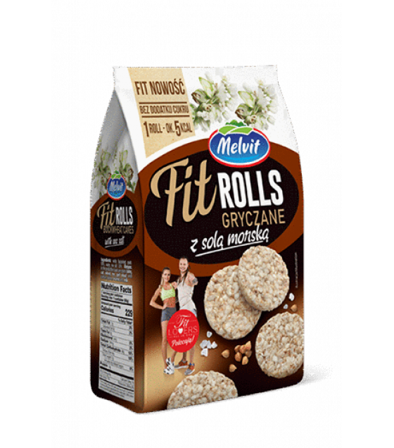 MELVIT Fit-rolls Buckwheat with Sea Salt - 60g (exp. 10.09.20)