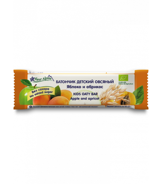 Fleur Alpine - Oat Bar For Kids with Apple and Apricot - 23g (exp. 07.01.21)
