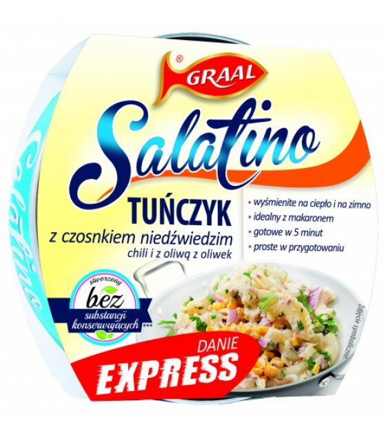 GRAAL Tuna Salad with Garlic, Chili and Olive oil - 160g (exp. 01.12.21)