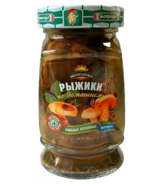 """Ecoproduct"" orange agaric salted mushrooms  - 340g (exp. 11.04.20)"