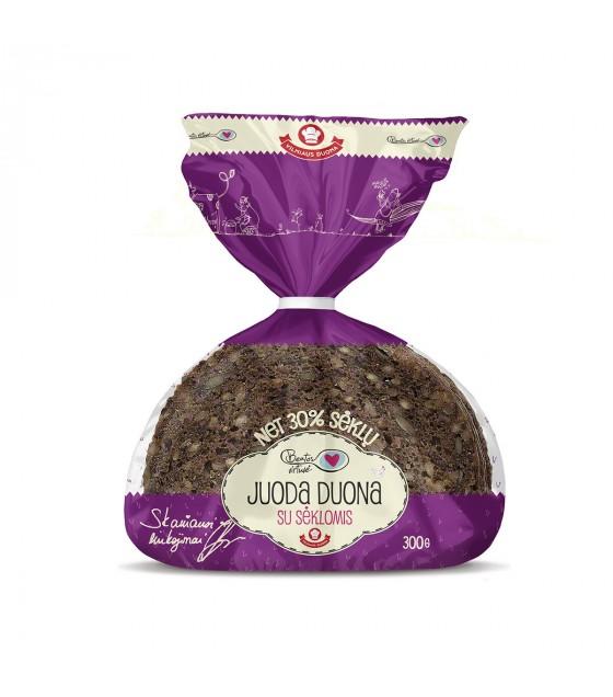 """Juoda Duona"" Dark Rye Bread with Seeds - 300g"