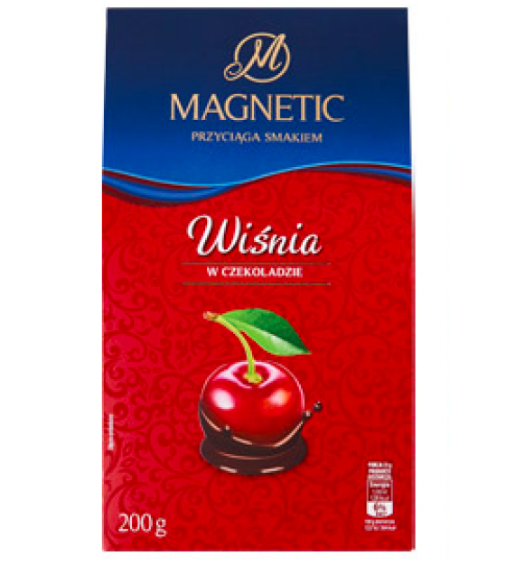 MAGNETIC Candies Wisnia chocolate coated  - 200g (exp. 24.11.20)