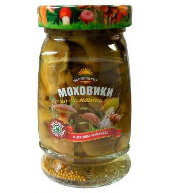 """Ecoproduct"" Mossiness mushrooms  in mild marinade - 340g (exp. 07.12.19)"