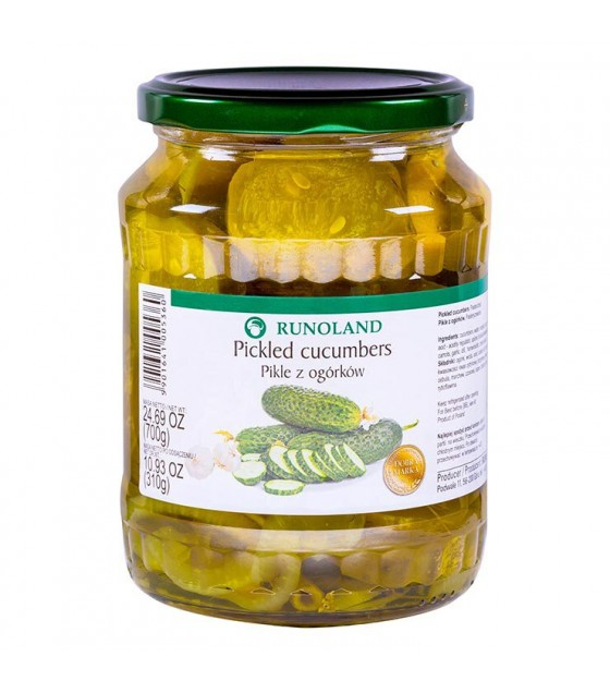 RUNOLAND Pickled Cucumbers Sliced - 700g/310g (exp. 10.07.20)