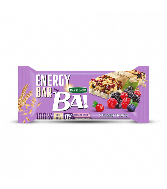 "BAKALLAND Energy Bar ""BA!"" 5 Forest Fruits - 40g (exp. 31.08.20)"