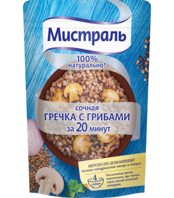 Mistral Juicy buckwheat with mushrooms ready in 20 minutes - 230g (exp. 09.10.19)