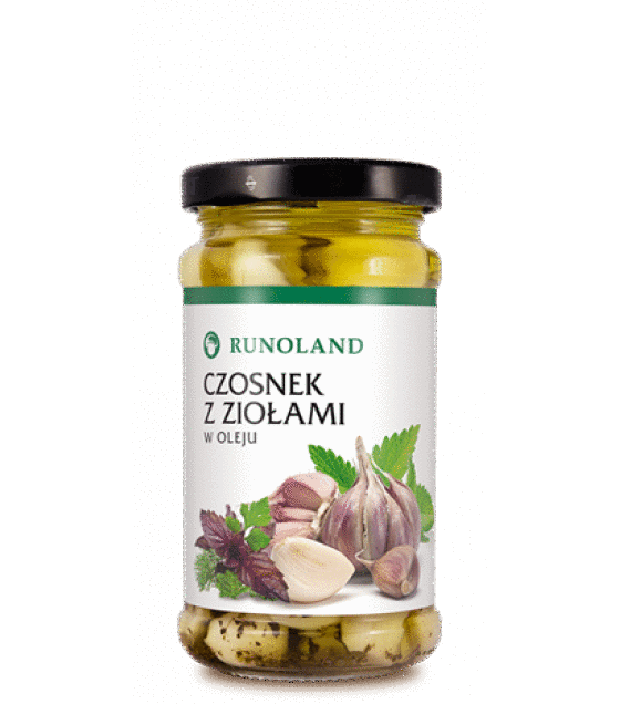 RUNOLAND Garlic Preserved with oil and herbs - 210g/120g (exp. 10.01.20)