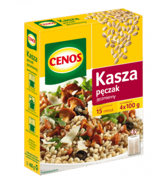 "CENOS Pearl Barley Groats ""Peczak"" (4 x 100g) - 400g (exp. 03.05.20)"