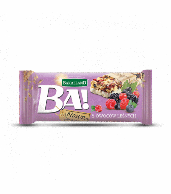 "Energy Cereal Bar ""Bakalland Ba!"" 5 forest fruits  - 40g (exp. 31.01.20)"
