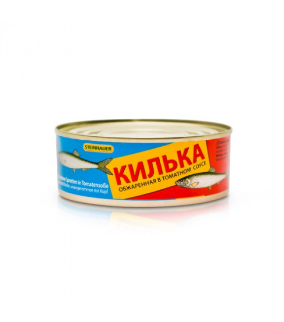 STEINHAUER Sprats (Kilka) Fried in Tomato Sauce - 240g (exp. 25.11.22)