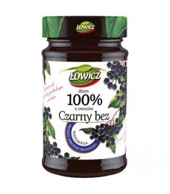 LOWICZ Pro-Health Elderberry 100% Jam (Czarny bez) - 235g (exp. 01.11.20)