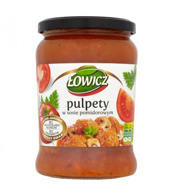LOWICZ Fried Meatballs In Tomato Sauce (Klopsy) - 580g (exp. 14.08.21)