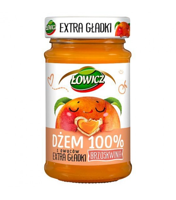 LOWICZ Extra Smooth Peach 100%  Jam - 235g (exp. 01.11.20)