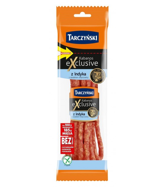 TARCZYNSKI Kabanos Exclusive Turkey with Pork smoked sausages - 100g (exp. 17.07.19)