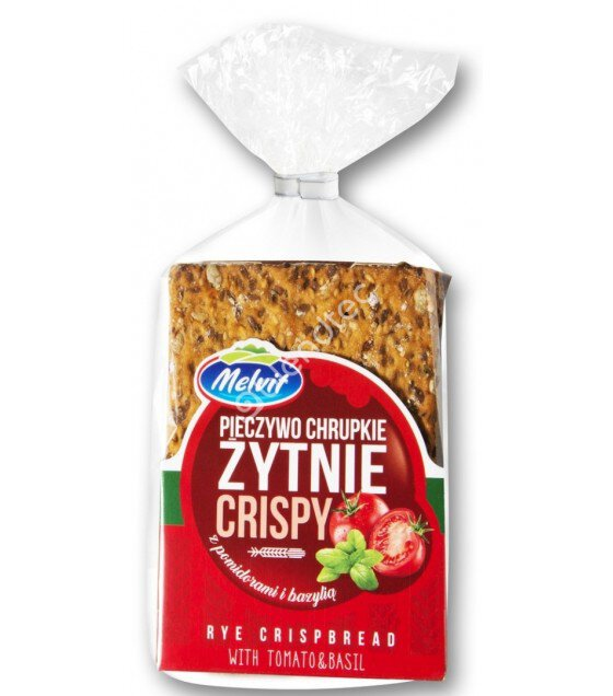 MELVIT Crispbread with Tomatoes and Basil - 130g (exp. 16.11.2019)