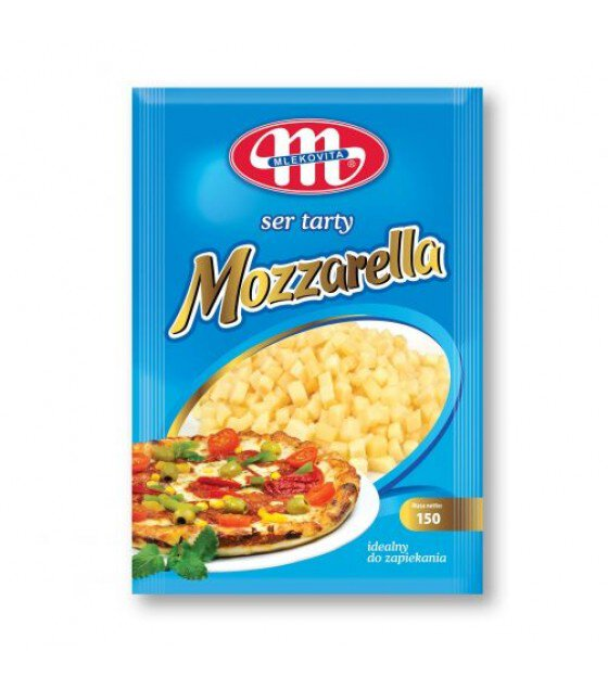 Mlekovita MOZZARELLA Cheese shredded in cubes - 150g (exp. 16.05.19)