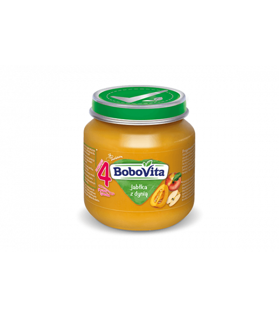 NUTRICIA BoboVita Baby Puree with Pumpkin and Apples (from 4 months) - 125g (best before 23.09.21)