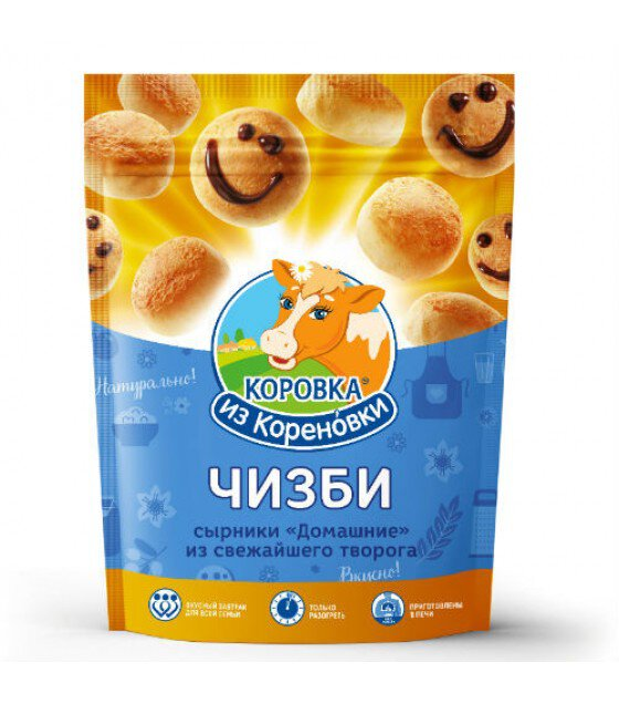 """Frozen Cheesecakes (Chisbi) made of cottage cheese """"Korovka is Korenovki"""" - 400 g. (exp. 31.08.19)"""