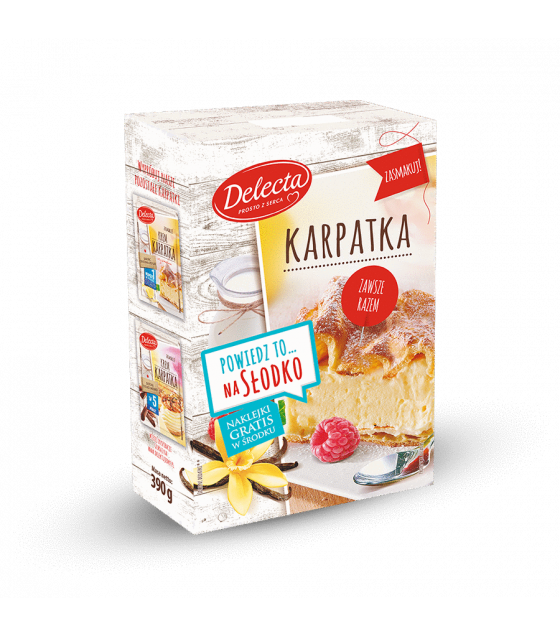 "BAKALLAND Mountain Cake ""Karpatka"" Baking Mix (cake & cream) - 390g (best before 30.09.21)"