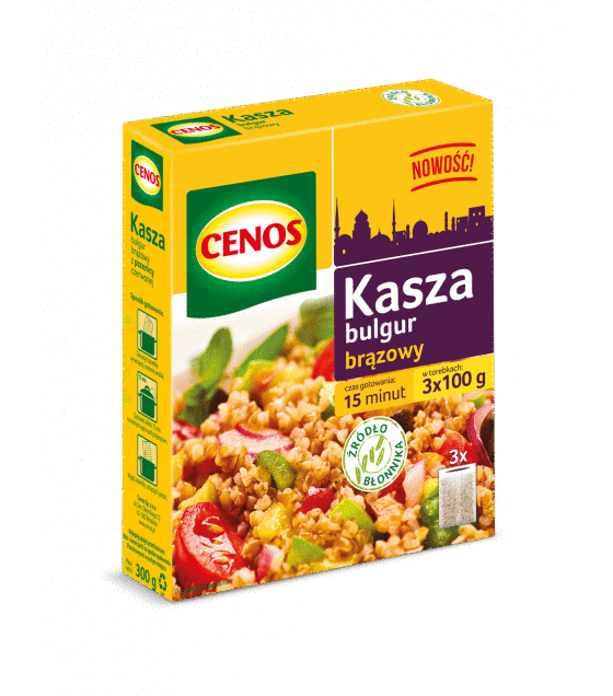 CENOS Brown Bulgur Grits (3 x 100g) - 300g (exp. 01.12.19)