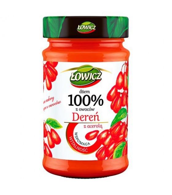 LOWICZ Pro-Health Dogwood 100% Jam (Deren) - 235g (exp. 01.11.20)