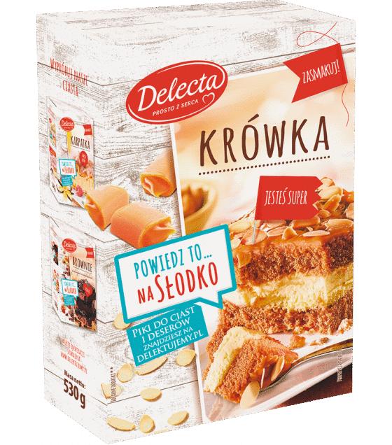 "Baking Mix ""Delecta"" Fudge cake with caramel - 530g (exp. 10.09.19)"