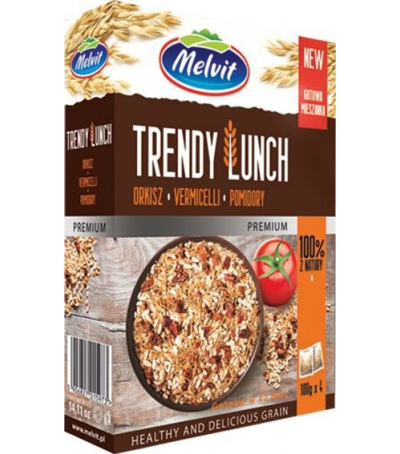 MELVIT Trendy Lunch Spelt, Vermicelli, Tomatoes - 4x100g (best before 05.02.22)