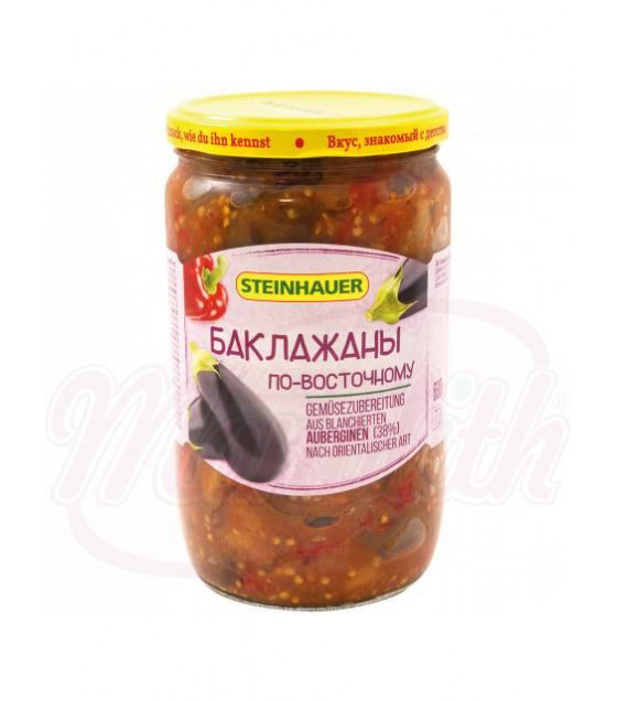 "STEINHAUER Pickled Eggplants Oriental ""Po Vostochnomy""- 680g (best before 05.10.22)"