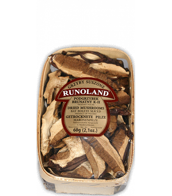 RUNOLAND Bay Bolete Dried Wild Mushrooms - 60g (exp. 10.09.21)
