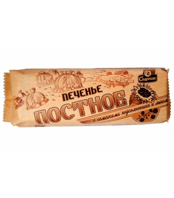"SPARTAK Cookies ""Postnoe"" with sunflower seeds and flax - 220g (exp. 01.01.21)"