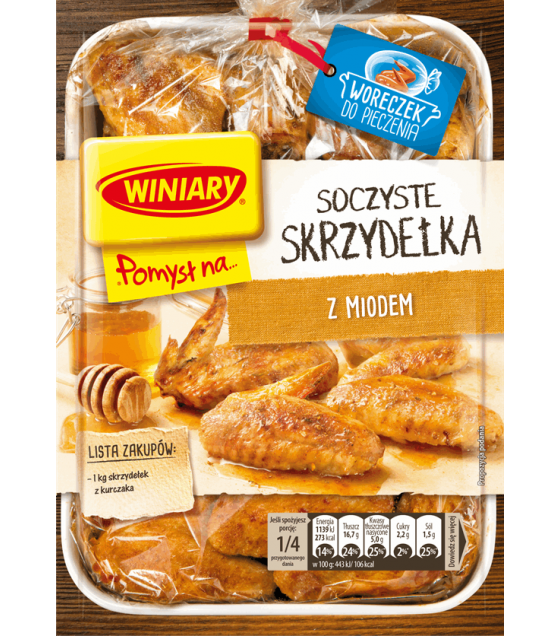 WINIARY Mix for Cooking Juicy Chicken Wings with Honey - 28g (best before 01.05.21)
