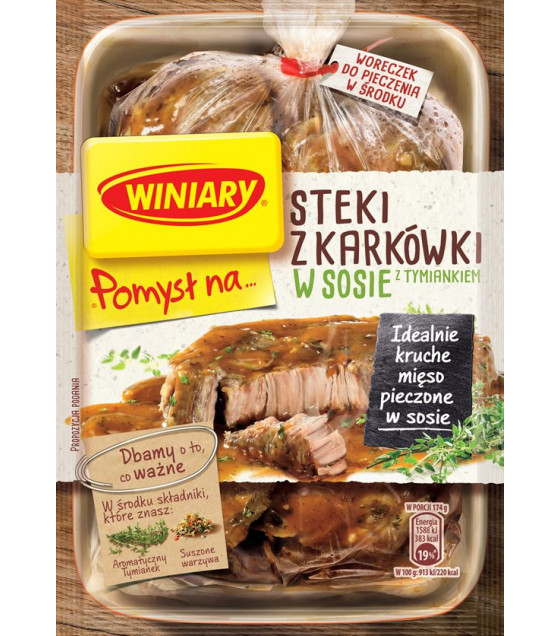 WINIARY Mix for Cooking Pork Neck Steaks in Thyme Sauce - 44g (best before 01.02.21)