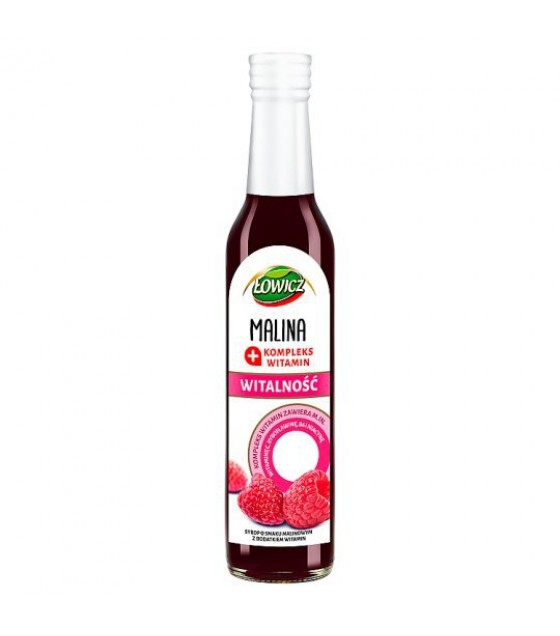 LOWICZ Pro-Health Raspberry Syrup - 250ml (exp. 01.02.21)