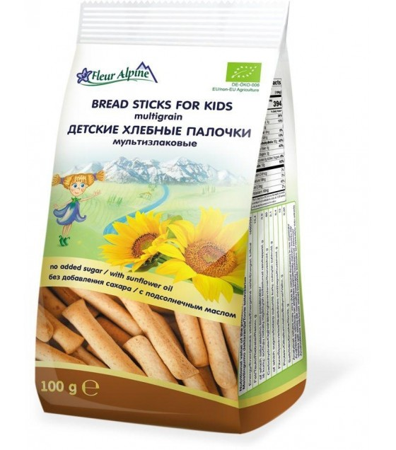 Fleur Alpine - Multigrain Bread Sticks For Kids - 100g (exp. 08.01.21)