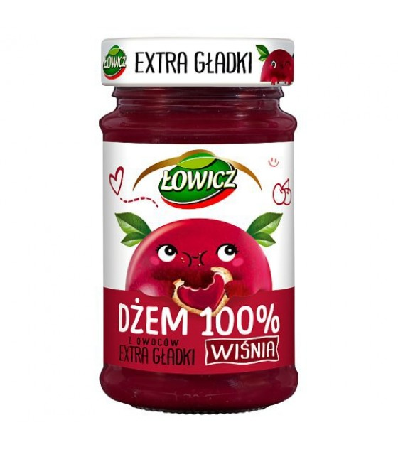 LOWICZ Extra Smooth Cherry 100% Jam - 235g (exp. 01.11.20)