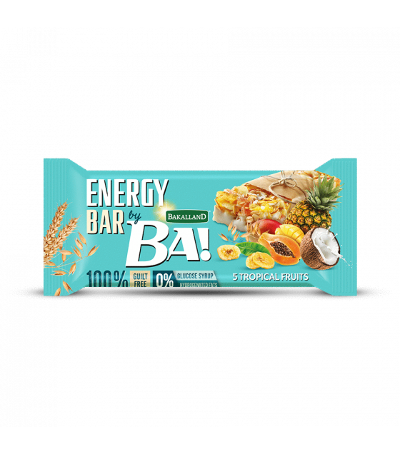 "BAKALLAND Energy Bar ""BA!"" 5 Tropical Fruit - 40g (exp. 30.09.20)"