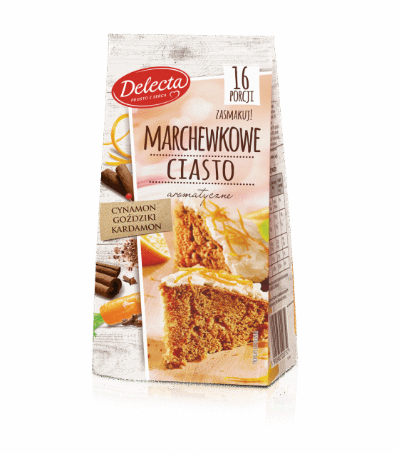 "Baking Mix ""Delecta"" Carrot pie - 430g (exp. 10.09.19)"