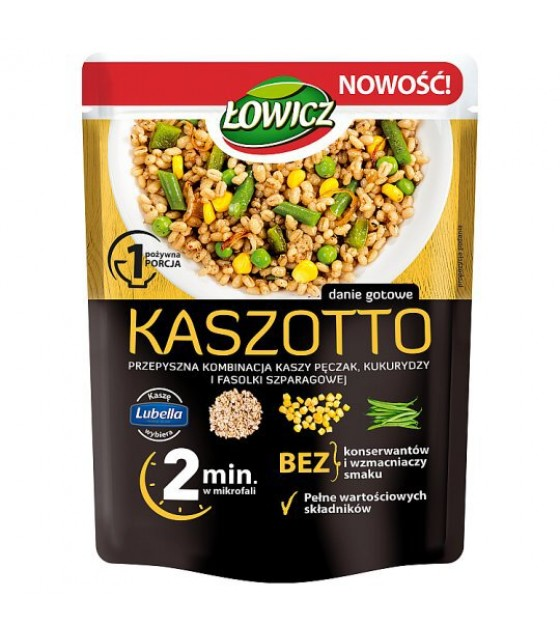 LOWICZ Kaszotto Pearl Barley with Corn and Green Beans 2 min - 250g (exp. 01.11.20)